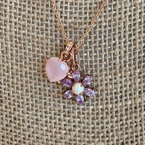 Juicy Couture rose gold necklace with charms